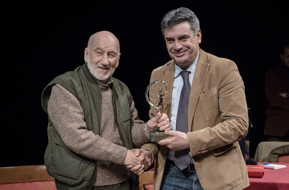 Gianni Berengo Gardin al Teatro della Fortuna di Fano 19 febbraio 2016 foto di Luciano Serafini